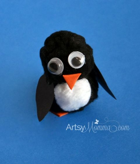Pom Pom Penguin Craft for Kids