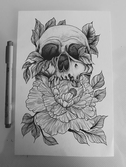 Black and White tattoo skull ink stippling tattoo apprentice myartwork peonies perth DOTS peony Etching micron black and grey Dotwork linework apprentice thigh piece pointillism etch dotart