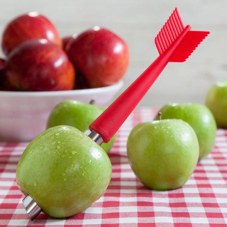 Ototo Apple Shot appelboor  Description: Als je een appeltaart gaat bakken en alle appels snel van hun schil en klokhuis wilt bevrijden dan is de Apple Shot appelboor van Ototo hiervoor onmisbaar. Deze appelboor heeft de vorm van een pijl en als hij door de appel geboord zit is het net alsof Wilhelm Tell een pijl heeft afgeschoten. Met de dunschiller aan de bovenkant kun je de appel snel schillen. Je koopt de Apple Shot appelboor online bij Ditverzinjeniet.nl.  Price: 6.48  Meer informatie