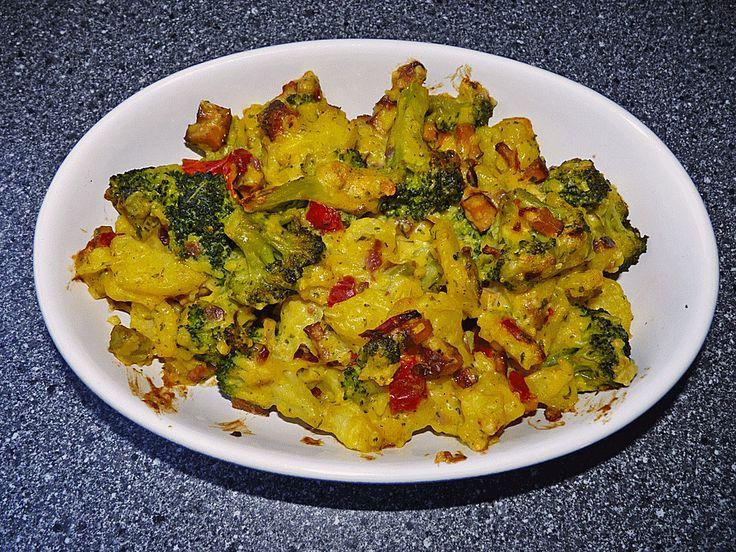 Brokkoli-Kartoffel-Auflauf, vegan