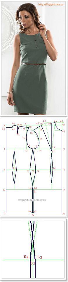 Построение выкройки основы платья  ...<3 Deniz <3