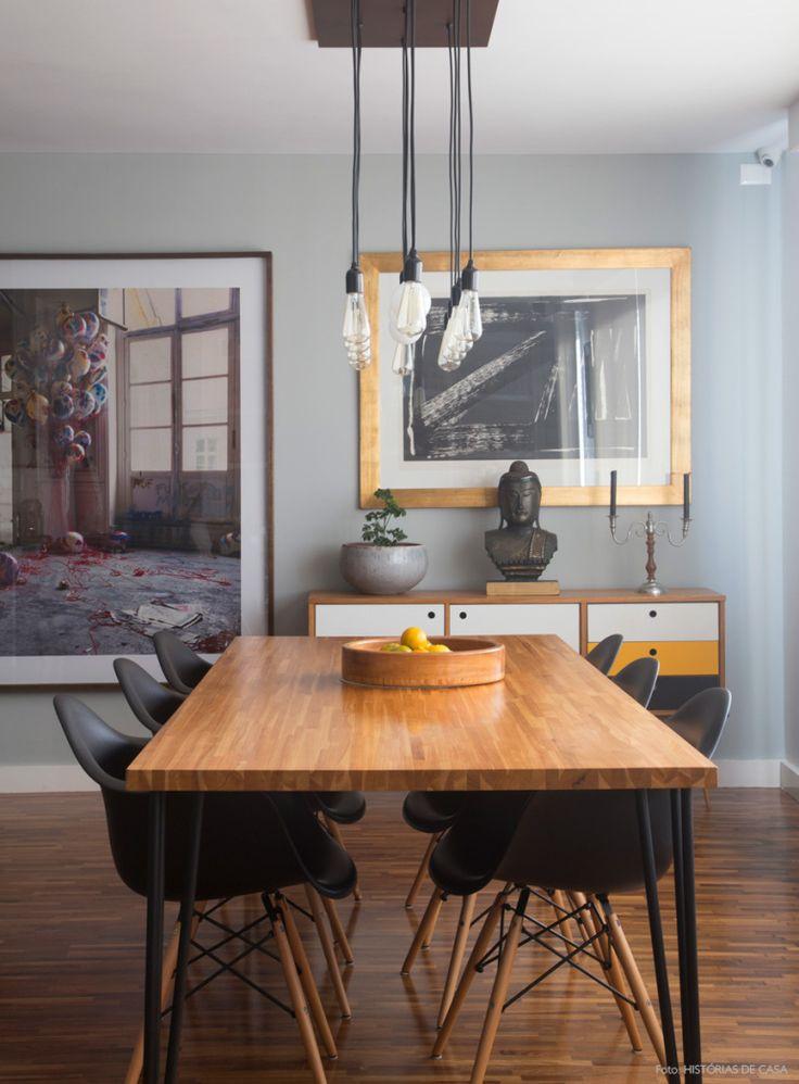 Sala de jantar moderninha. Mais em www.historiasdecasa.com.br #todacasatemumahistoria #saladejantar #eames