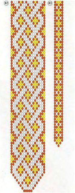 pattern for beaded tie