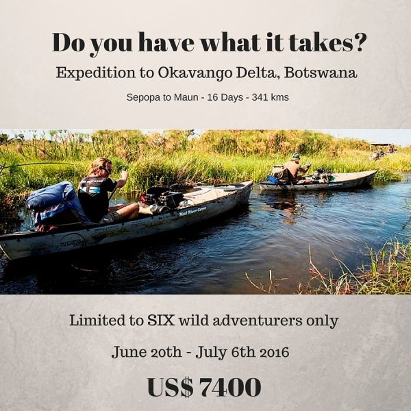 15 Nights River Expedition to the Okavango Delta