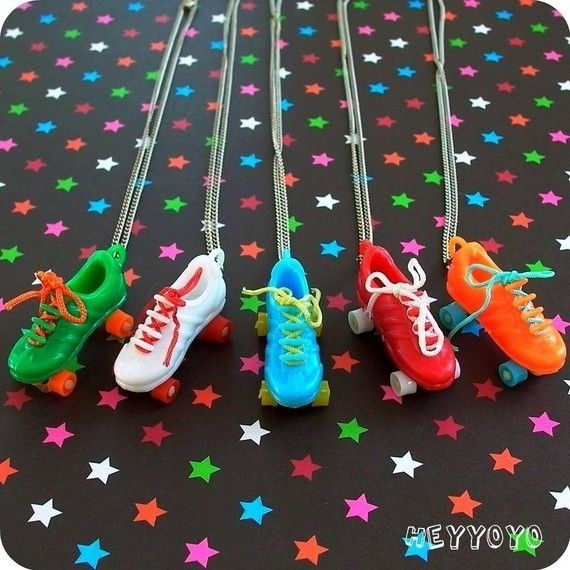 Vintage Roller Skate Necklace