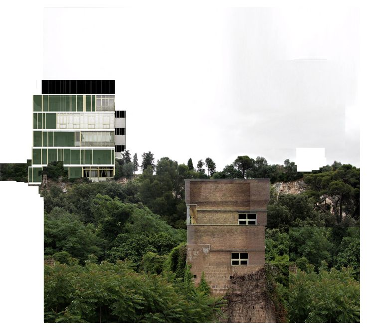 Beniamino Servino. Squat Towers in the ruins landscape.