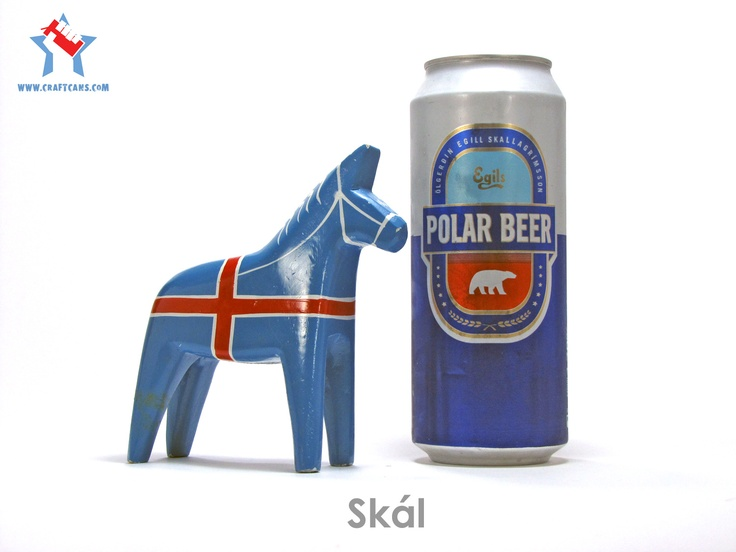 Icelandic beer in a can.