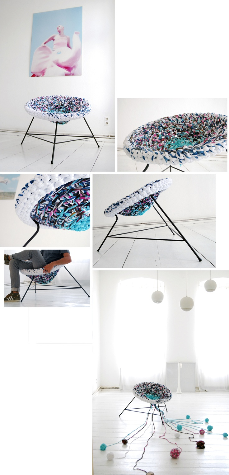 64 best designer papasan chairs images on pinterest chairs andrea brena s knitted army find this pin and more on designer papasan chairs