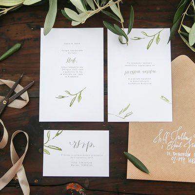 Love Prints Oryginalne Kwiatowe Zaproszenia Ślubne - Toskania