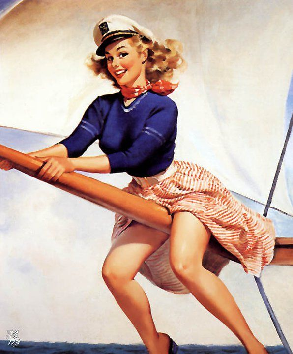 2019 Vintage Pinup Girl Gil Elvgren Hand Painted Art Oil: 38 Best Images About Anchors Away On Pinterest