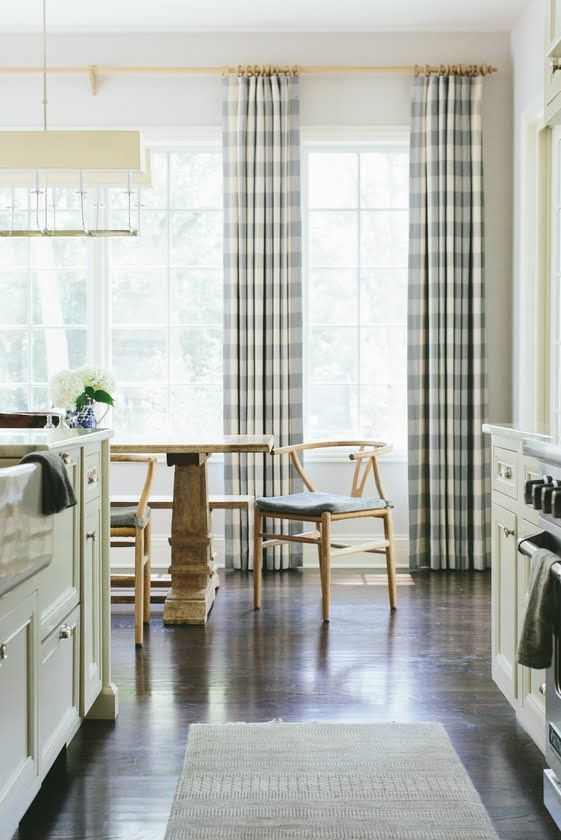 Buffalo Check curtains - these are for my family room Monday Inspiration | Kate Marker