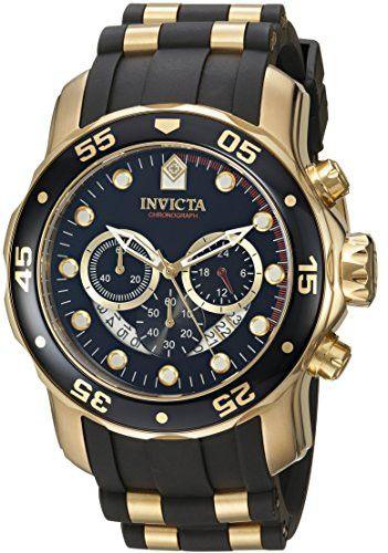 Invicta Men s 6981 Pro Diver Analog Swiss Chronograph Black Polyurethane  Watch f6d69fcdd61