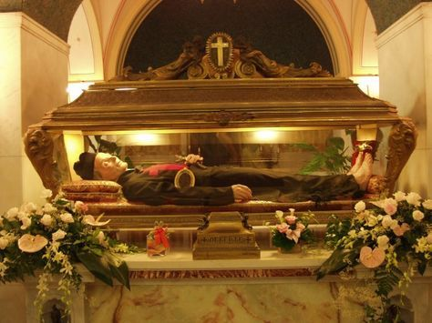 Incorruptible body of SAN CAMILLO DE LELLIS aka Saint Camillus de Lellis, he is the Patron saint of the sick with St. John of God, by Pope Leo XIII, and patron of nurses and nursing groups by Pope Pius XI.
