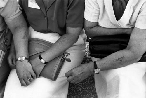 Jerusalem, June 1981: 1st Worldwide meeting of Holocaust survivors. Photographed by Patrick Zachmann.