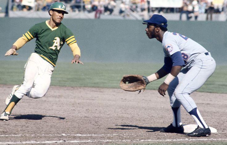 Bert Campaneris and Jon Milner - 1973 World Series | 야구 수비 ...