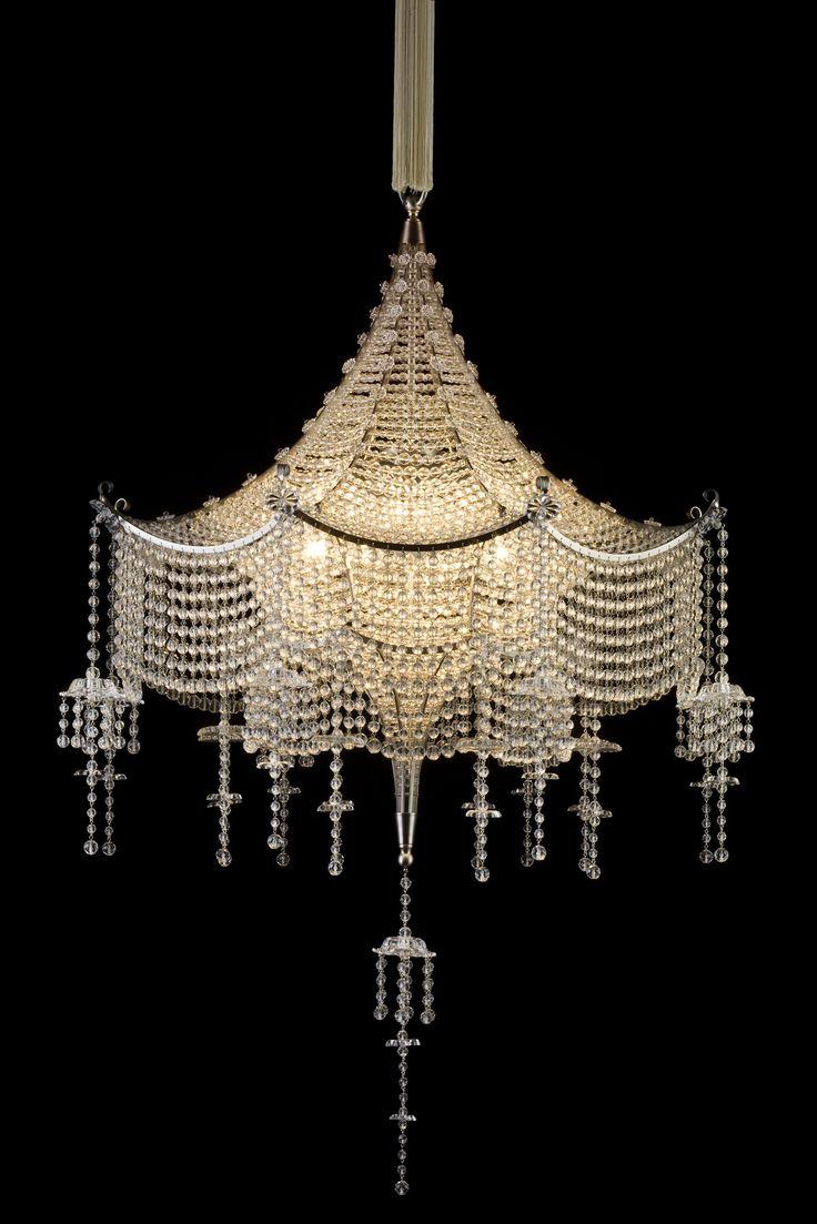 Lobmeyr-Carl-Witzmann-Pagoda-Chandelier-The-Scala-Theater-Vienna-1922: Beautiful Chandelier, Lights, Lamps, Crystals Chandelier, Scala Theater, Pagoda Chandeliers, Artdeco, Carl Witzmann, Art Deco