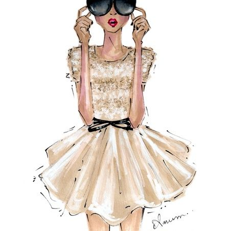 For Price's room? Blonde Episodes: Fashion Friday--Illustrations That Inspire