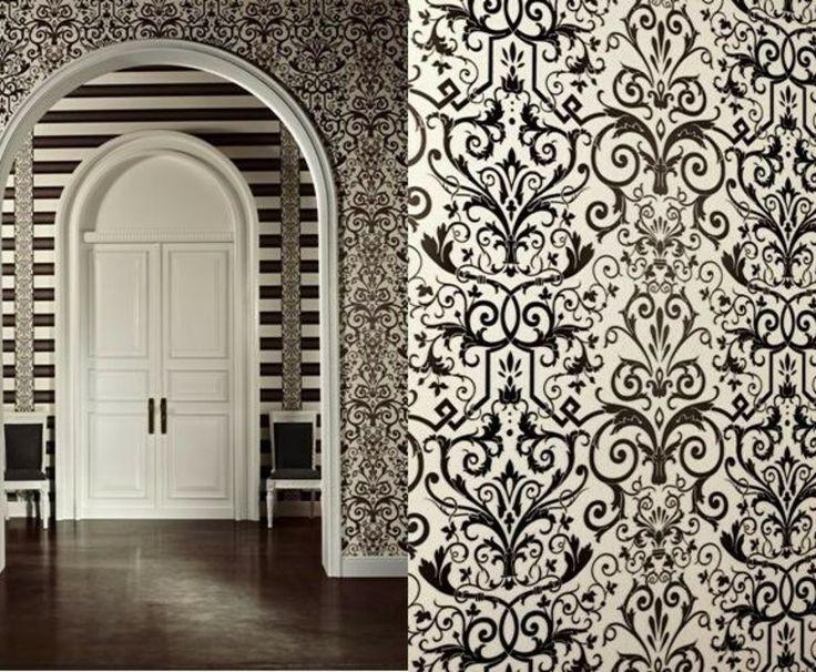 papeles pintados versace elegancia y distincin diseo alta gama papel blanco negro