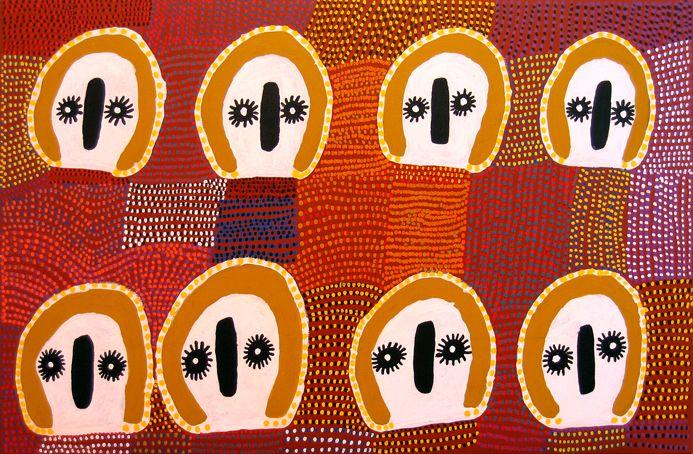 Lucy Ward, Wandjina, acrylic on canvas, 2006