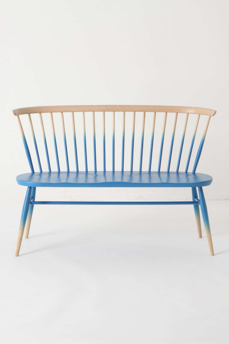 Windsor Love Seat | Anthropologie: Paintings Furniture, Windsor, Anthropology, Diy'S, Color, Chairs, Ombre Benches, Design, Paintings Idea