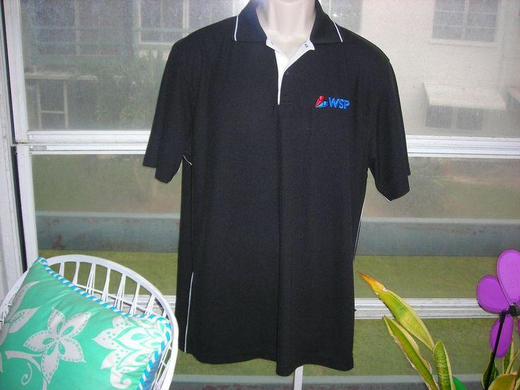 MEN'S GOLF POLO SHIRT BLACK by Holloway WSP'S GTA LOGO Size Medium #Holloway #ShirtsTops
