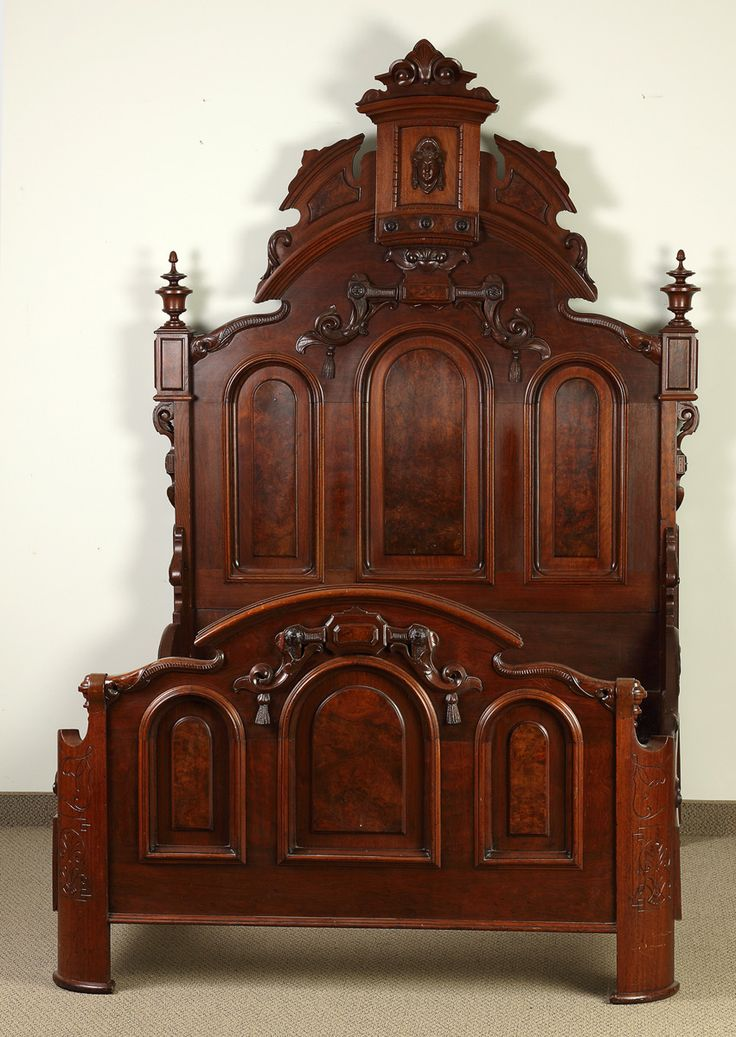 Victorian Carved Walnut Bed | Cottone Auctions