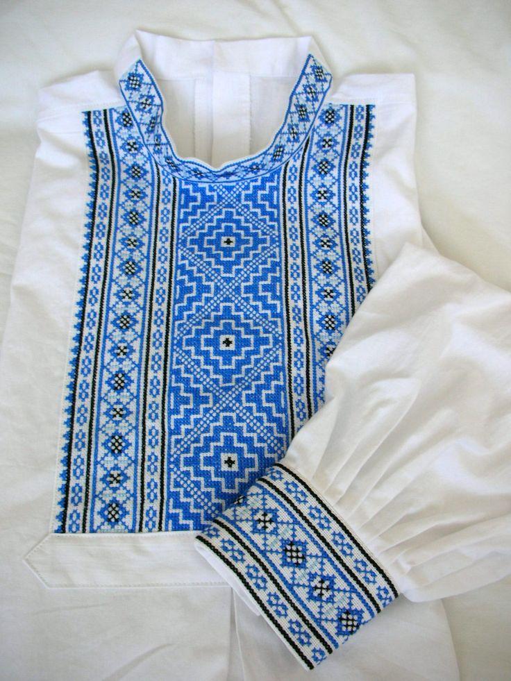 Slovak men folk shirt from region Myjava