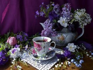 обои для рабочего стола: Натюрморт - Дачное чаепитие