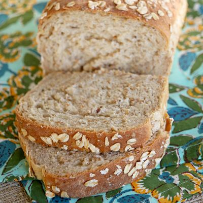 homemade multigrain bread made with a muesli cereal mix