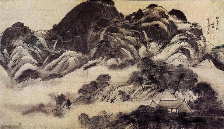 Inwang Mountain, Jung Sun 1751 겸재 정선 인왕재색도 삼성미술관