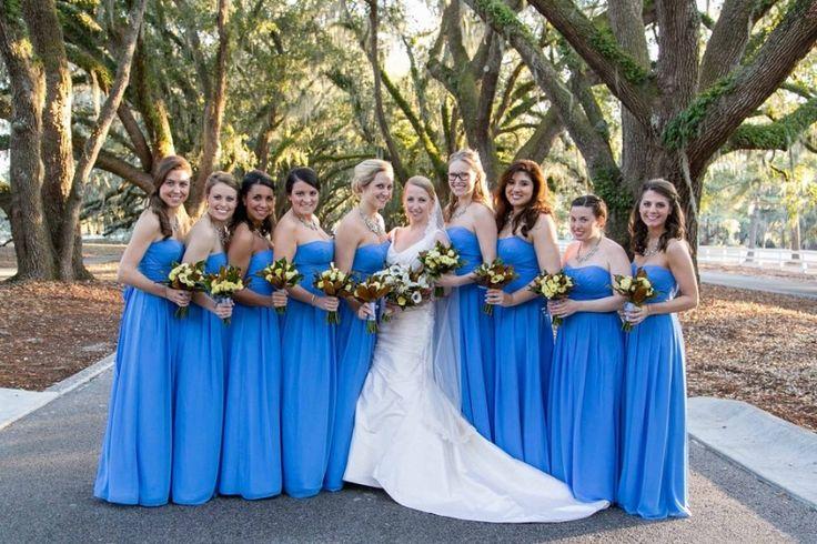 cornflower blue bridesmaid dresses - Google Search