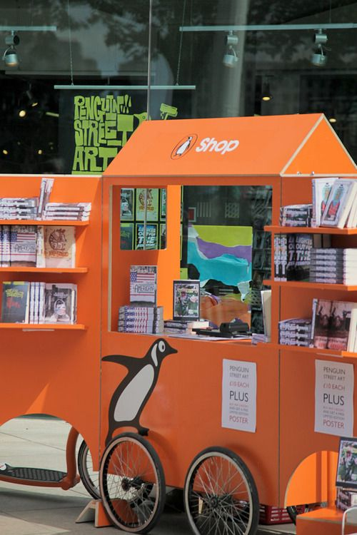 And here are our trusty wheels - the Penguin Pop-up Shop.