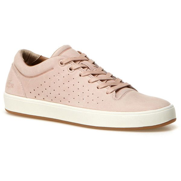 Lacoste Women's Tamora Leather Lace Up Sneakers ($155) ❤ liked on Polyvore…