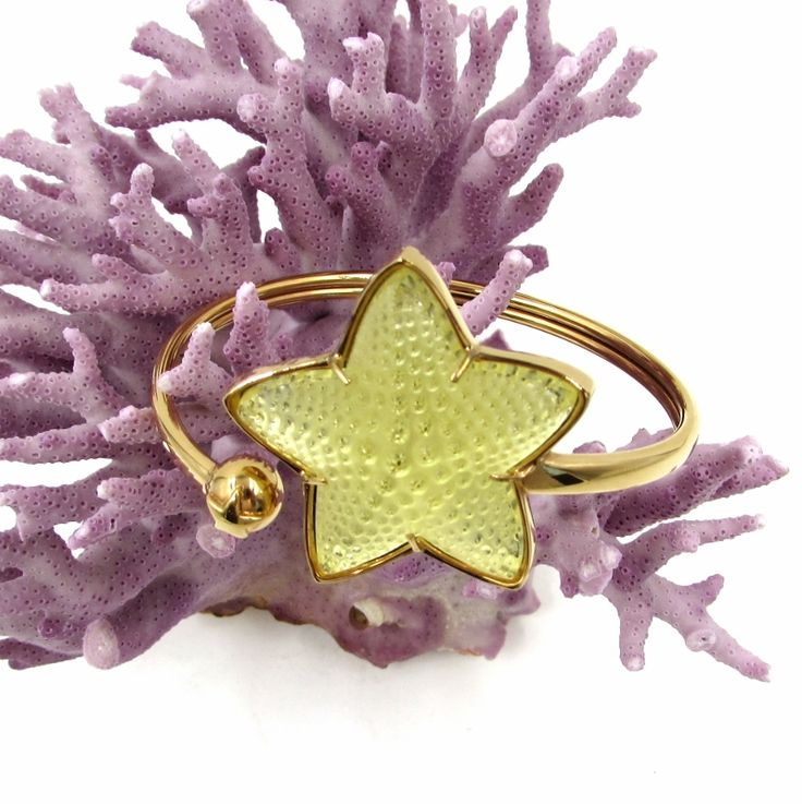 """Lalique """"Oceania"""" Yellow Crystal Starfish Bracelet . Available at sklimited.com"""