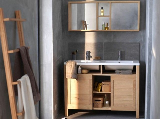 61 best salle de bain images on Pinterest Bathroom, Bathroom ideas - petit meuble salle de bain pas cher