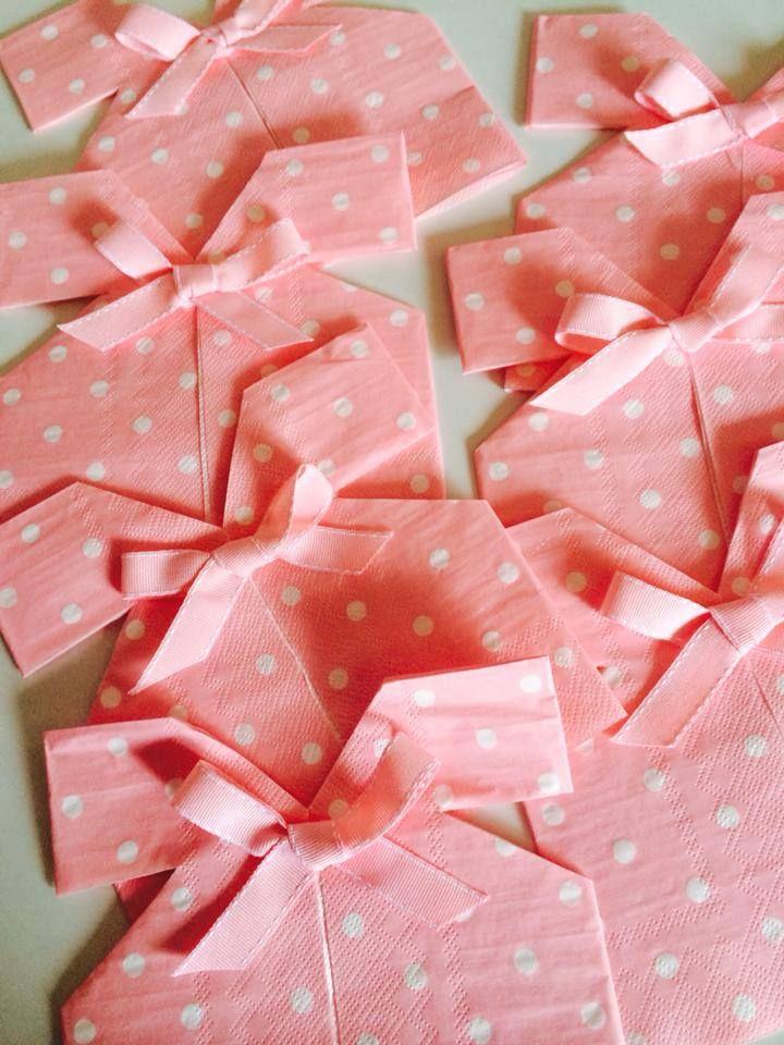 Napkin dress in pink