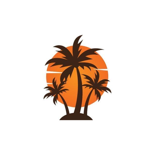 Letom Logotip Summer Logo Holiday Logo Design Palm Tree Icon