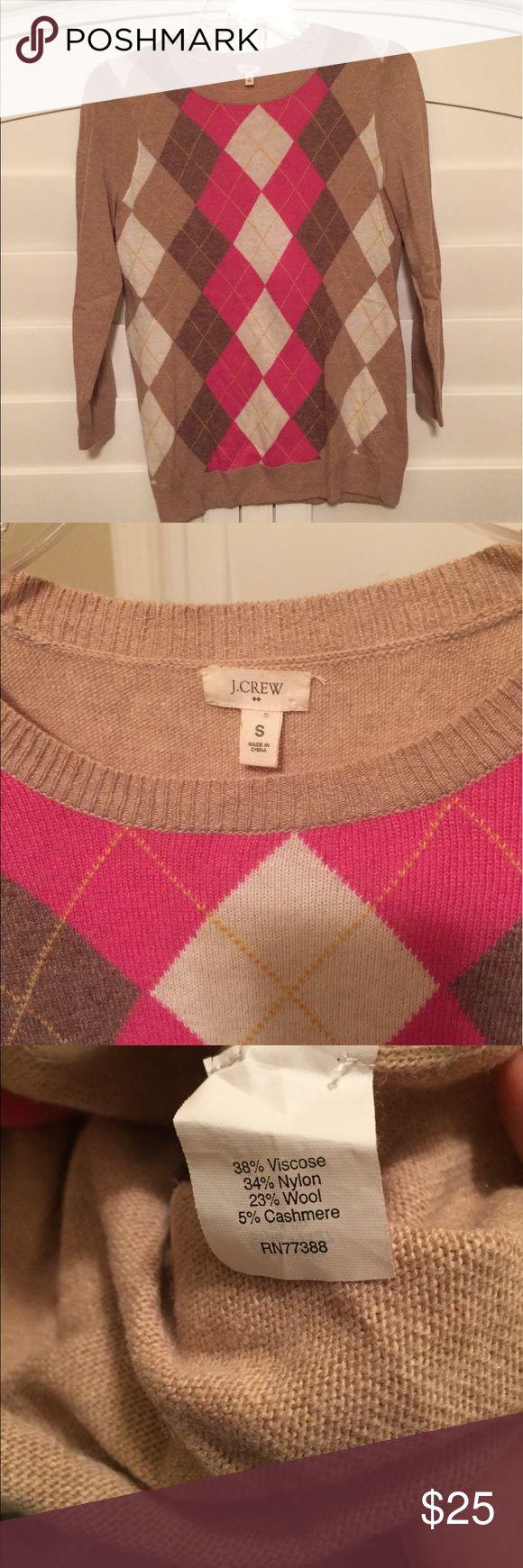 JCrew Argyle Sweater- with cashmere JCrew Argyle Sweater J. Crew Sweaters Crew & Scoop Necks