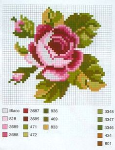 floral cross stitch patterns free - Google Search