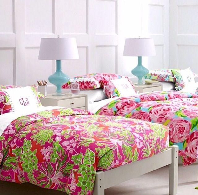 Lily pulitzer bedding #preppy #room decor