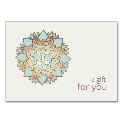 Healing Arts Lotus Gift Certificate | Zazzle.com