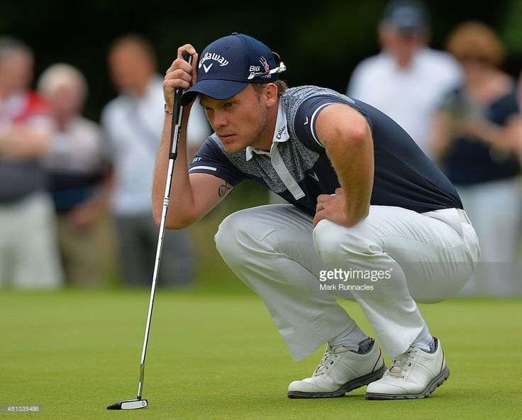 Danny Willett of England looks on at the 2nd green during the fourth round of the Irish Open at Fota Island resort on June 22, 2014 in Cork, Ireland.