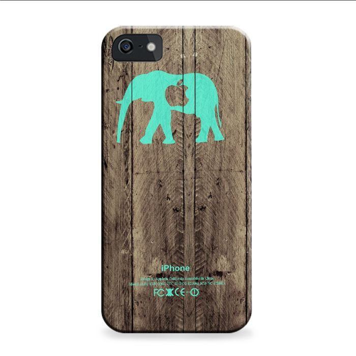 Mint Chevron Elephant Dark Wood iPhone 6 | 6S 3D Case