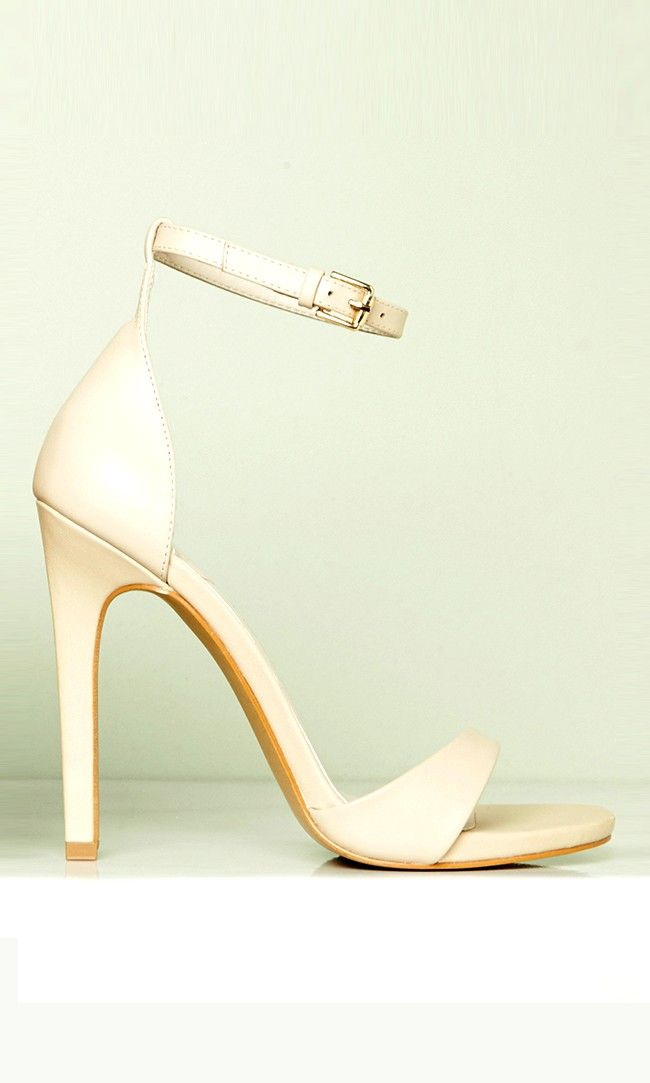 Perfect wedding shoes: Strappy high heeled sandals in blush, ideal for the bride, bridesmaids and guests