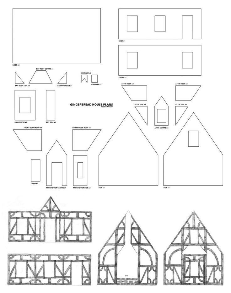 Cardboard House Template Templates Station Gingerbreadhousetemplate Cardboard House Template Tem Gingerbread House Patterns Cardboard House House Template