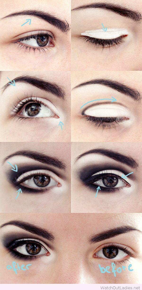 Smokey Eye Makeup In Black And White Tutorial Fall Winter