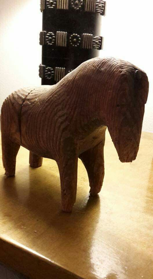 My mother's farther's farher has carved this toy horse in the  early 20th century in Mäntyharju