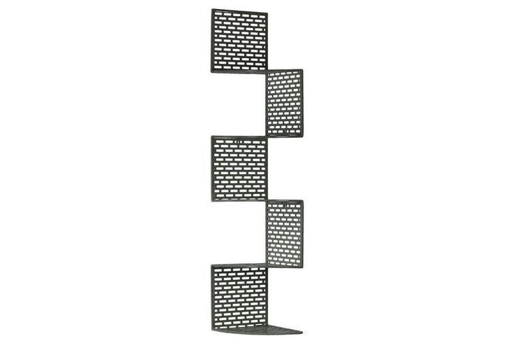 Urban Trends Metal Corner Shelf with 5-Tiers and Perforated Surface and Backing, #UrbanTrends