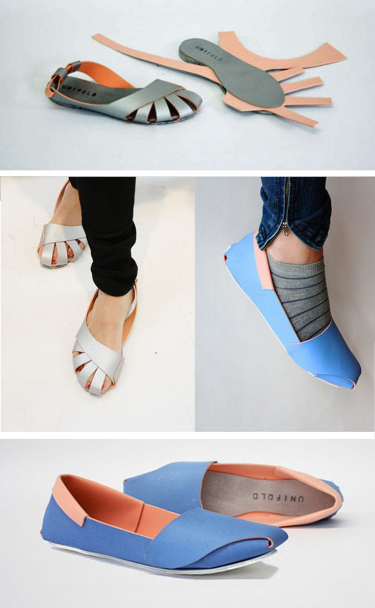 Printable, Foldable Shoes Could Solve the Developing World's Footwear Shortage. Amazing. Probably also really easy to trace paper versions onto fabric and sew up instead of fold, and Voila! You have your very own hand-made shoes.