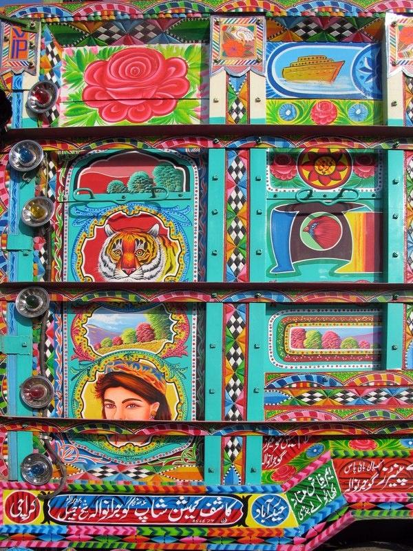 Pakistani hand painted truck art
